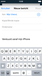 Apple iPhone 5c (Model A1507) met iOS 8 - E-mail - Hoe te versturen - Stap 6