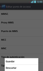 LG Optimus L5 II - Mensajería - Configurar el equipo para mensajes multimedia - Paso 16