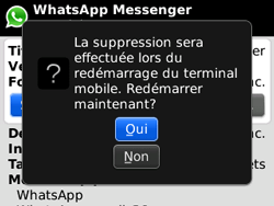 BlackBerry curve 3G - Applications - Supprimer une application - Étape 8