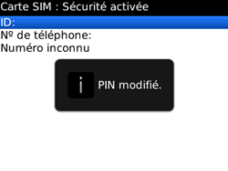 BlackBerry 8520 - Sécuriser votre mobile - Personnaliser le code PIN de votre carte SIM - Étape 11
