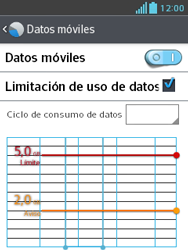 LG Optimus L3 II - Internet - Ver uso de datos - Paso 12