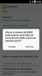 Huawei Ascend Y625 - SMS - Como configurar o centro de mensagens -  8