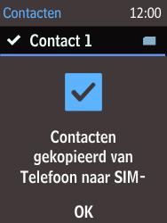 Nokia 215 (Type RM-1111) - Contacten en data - Contacten kopiëren van toestel naar SIM - Stap 11
