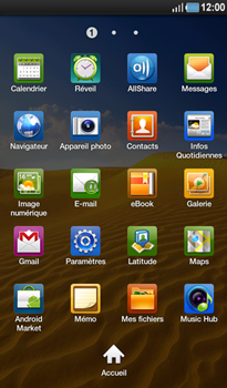 Samsung P1000 Galaxy Tab - Messagerie vocale - Configuration manuelle - Étape 3