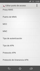 Sony Xperia E4g - Mensajería - Configurar el equipo para mensajes multimedia - Paso 12