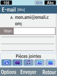 Samsung C3590 - E-mails - Envoyer un e-mail - Étape 6
