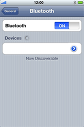 Apple iPhone 3G - Bluetooth - Pair with another device - Step 6