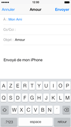 Apple iPhone 5 iOS 7 - E-mail - envoyer un e-mail - Étape 6