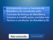 BlackBerry 9620 - Primeiros passos - Como ativar seu aparelho - Etapa 9