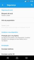 Sony Xperia Z3 Plus - Segurança - Como ativar o código de bloqueio do ecrã -  5