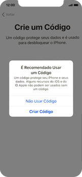 Apple iPhone X - iOS 12 - Primeiros passos - Como ativar seu aparelho - Etapa 13