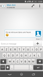 Sony Xperia E4g - Contact, Appels, SMS/MMS - Envoyer un SMS - Étape 12