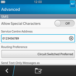 BlackBerry Q5 - SMS - Manual configuration - Step 9