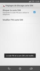 Sony Xpéria T3 - Sécuriser votre mobile - Personnaliser le code PIN de votre carte SIM - Étape 10