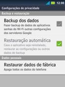 Motorola Master XT605 - Funções básicas - Como restaurar as configurações originais do seu aparelho - Etapa 7
