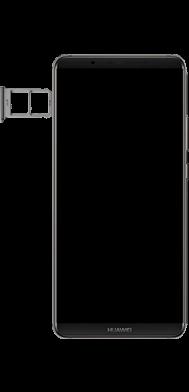 Huawei Mate 10 Pro - Premiers pas - Insérer la carte SIM - Étape 4
