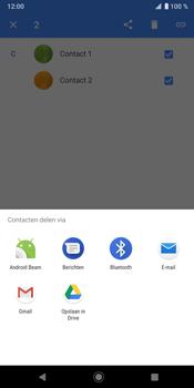 Sony Xperia XZ3 - Contactgegevens overzetten - delen via Bluetooth - Stap 7