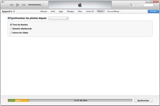 Apple iPhone XS - iOS 12 - Photos, vidéos, musique - Récupérer vos contenus multimédias avec un ordinateur - Étape 9