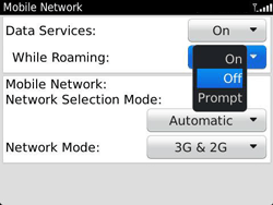 BlackBerry 9360 Curve - Internet - Usage across the border - Step 6
