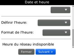 BlackBerry curve 3G - Premiers pas - Créer un compte - Étape 10