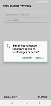 Samsung Galaxy Note 8 - E-mail - Handmatig instellen (outlook) - Stap 10