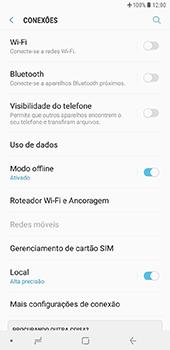 Samsung Galaxy J8 - Rede móvel - Como ativar e desativar o modo avião no seu aparelho - Etapa 6
