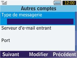 Samsung S3570 Chat 357 - E-mail - Configuration manuelle - Étape 10