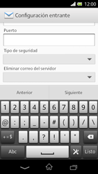 Sony Xperia L - E-mail - Configurar correo electrónico - Paso 10