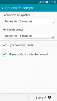 Samsung N910F Galaxy Note 4 - E-mail - Configuration manuelle - Étape 17