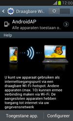 Samsung I8190 Galaxy S III Mini - WiFi - Mobiele hotspot instellen - Stap 10