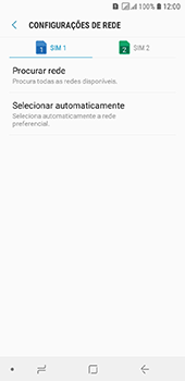 Samsung Galaxy J6 - Rede móvel - Como selecionar o tipo de rede adequada - Etapa 8
