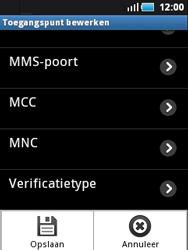 Samsung S5570 Galaxy Mini - MMS - handmatig instellen - Stap 12