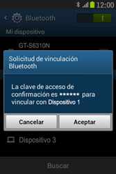 Samsung S6310 Galaxy Young - Bluetooth - Conectar dispositivos a través de Bluetooth - Paso 7