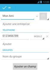 Bouygues Telecom Bs 351 - Contact, Appels, SMS/MMS - Ajouter un contact - Étape 9
