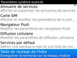 BlackBerry 9360 Curve - Paramètres - Reçus par SMS - Étape 6