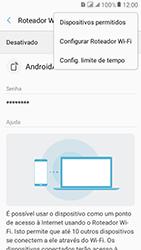 Samsung Galaxy J2 Prime - Wi-Fi - Como usar seu aparelho como um roteador de rede wi-fi - Etapa 8