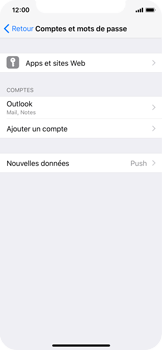 Apple iPhone X - E-mail - Configuration manuelle (outlook) - Étape 10