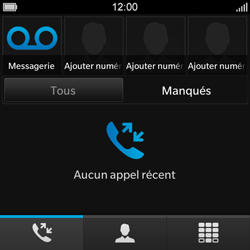 BlackBerry Q10 - Messagerie vocale - Configuration manuelle - Étape 4