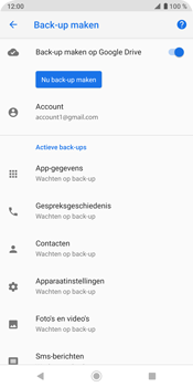 Sony Xperia XZ3 - Data - maak een back-up met je account - Stap 8