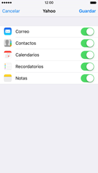 Apple iPhone 6s iOS 9 - E-mail - Configurar Yahoo! - Paso 8