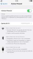 Apple iPhone iOS 11 - Wi-Fi - Como usar seu aparelho como um roteador de rede wi-fi - Etapa 8