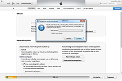 Apple iPhone 3G - Software - Back-up maken of terugplaatsen - Stap 6