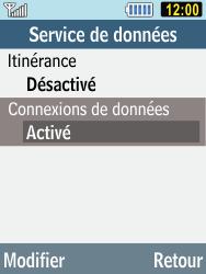 Samsung C3590 - Internet et connexion - Désactiver la connexion Internet - Étape 6