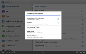 Samsung P7500 Galaxy Tab 10-1 - Internet - Configuration manuelle - Étape 5