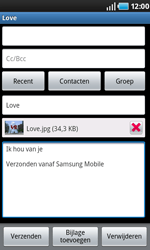 Samsung I9000 Galaxy S - E-mail - hoe te versturen - Stap 11