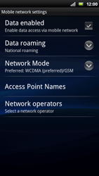 Sony Ericsson Xperia Play - Network - Usage across the border - Step 6