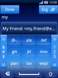 Sony Ericsson Xperia X10 Mini - Email - Sending an email message - Step 6