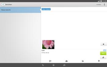 Sony Xperia Tablet Z2 (SGP521) - MMS - afbeeldingen verzenden - Stap 17