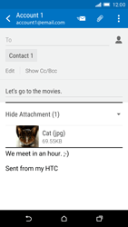 HTC One M9 - E-mail - Sending emails - Step 16