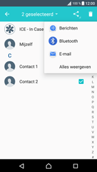 Sony F3111 Xperia XA - Contactgegevens overzetten - delen via Bluetooth - Stap 8